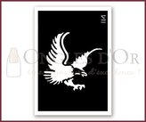 "Ongles d'Or Body Stencil (3"" x 4"") (Eagle)"