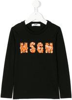 MSGM embellished logo top