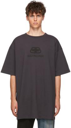 Balenciaga Black Washed Oversized BB T-Shirt