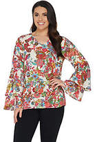Linea by Louis Dell'Olio Exotic Floral PrintTop
