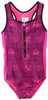 Roxy Girls' Retro Sport Zipper One Piece Swimsuit (7yrs16yrs) - 8136299