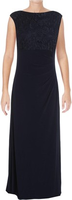 Alex Evenings Women's Long Cowl Back Dress (Petite and Regular)