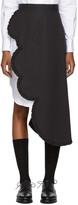 Shushu-tong Black Asymmetric Petal Skirt