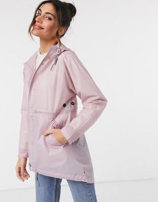 Hunter vinyl smock jacket in purple