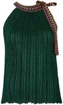 Missoni pleated halter top