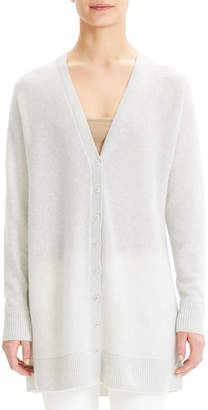 Theory V-Neck Button-Front Dolman Cashmere Cardigan