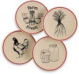 Bed Bath & Beyond Vintage Farm to Table Melamine Appetizer Plates (Set of 4)