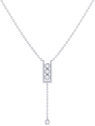 Lmj Traffic Light Lariat Necklace In Sterling Silver