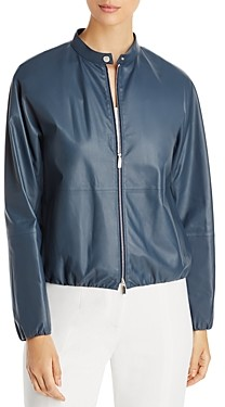 Lafayette 148 New York Rutherford Leather Jacket