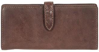 Frye Reed Slim Wallet (Dark Brown) Handbags