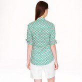 J.Crew Petite perfect shirt in honeypie print