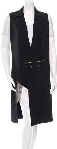 Anthony Vaccarello Virgin Wool Knee-Length Vest
