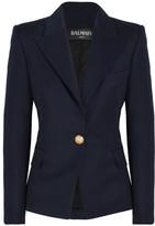 Balmain Wool-twill Blazer - Navy