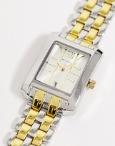 Bellfield mens square bracelet watch in multi tone