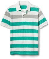 Short sleeve slub polo