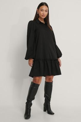 NA-KD Ruffle Hem Shirt Dress