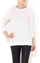 Wallis White Zip Shoulder Jumper