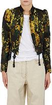 Dries Van Noten Women's Bach Puff-Shoulder Crop Jacket-Yellow, Black