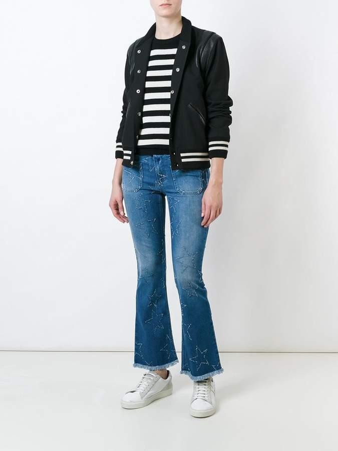 Stella McCartney '70's Flare' star detail jeans