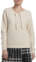 Svilu Wool and Cashmere Blend Lace-Up Sweater