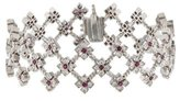 Loree Rodkin Diamond & Ruby Floral Link Bracelet