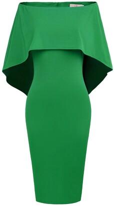 GRACE KARIN Spring Summer Dress for Women Off Shoulder Solid Plain Cute Slim Fit Dress Red