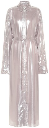Y/Project Metallic maxi shirt dress