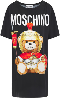 Moschino Shirred Printed Stretch-jersey Mini Dress