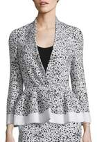 Carolina Herrera Splatter-Print Tweed Jacket