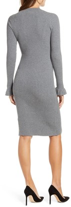 Rachel Parcell Ribbed Sweater Dress