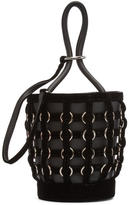 Alexander Wang Black Caged Mini Roxy Bucket Bag