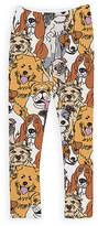 Urban Smalls Brown & Gray Dogs Leggings - Toddler & Girls