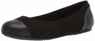 SoftWalk Women's Sonoma Black Nubuck Flat 11.0 M