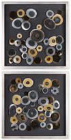 Uttermost Discs 2-Pc. Wall Art Squares Set