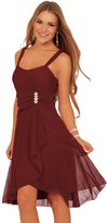 Hot From Hollywood Junior Sleeveless Sweetheart Sequins Layered Sheer Evening Party Formal Dress
