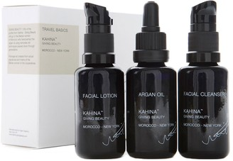 Kahina Giving Beauty Travel Basics 3X30Ml: Facial Cleanser, Facial Lotion, Argan Oil