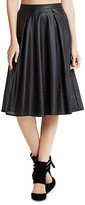BCBGeneration Perforated Faux Leather A-Line Skirt