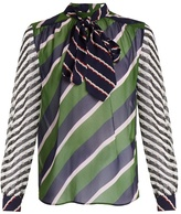 Mary Katrantzou Veddar graphic-print silk-chiffon blouse