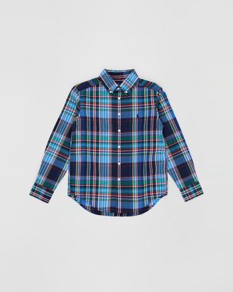 Polo Ralph Lauren Plaid Cotton Poplin Shirt - Teens