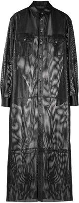 Simonetta Ravizza Cut-Out Detail Textured Shirt Dress