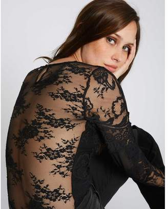 Morgan Long Sleeve Lace Bodysuit