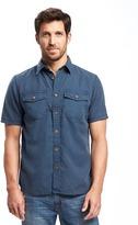 Old Navy Regular-Fit Utility-Pocket Shirt For Men
