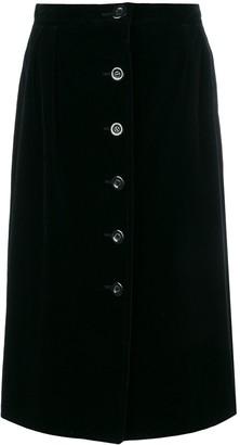 Emanuel Ungaro Pre Owned Velvet Midi Skirt