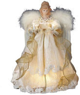 Kurt Adler 16.5 Ivory and Gold Angel Lighted Treetopper