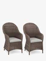 John Lewis & Partners Rye Garden Dining Armchairs, Set of 2, Natural