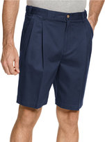 Geoffrey Beene Extender Waist Double Pleat Shorts