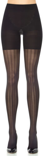 Spanx Assets By Spanx, Women's Shapewear, Patterned Tights Three-stripe Mesh 2056