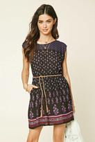 Forever 21 FOREVER 21+ Belted Floral Print Dress