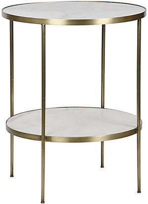 Noir Rivoli Side Table - Antiqued Gold
