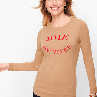"Talbots ""Joie De Vivre"" Sweater"